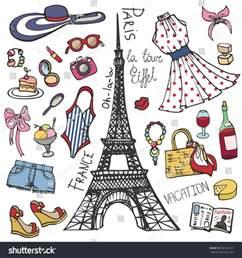 fashion illustrationparis france eiffel towerwomen summer