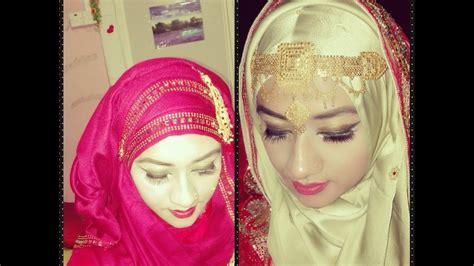 simple hijab tutorial for wedding bridal hijab tutorial part 4 5 youtube