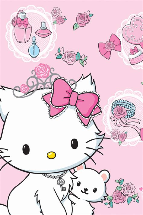 wallpaper iphone 6 kitty hello kitty wallpaper for iphone