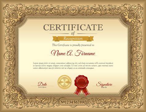 certificate design golden luxury golden certificate template vector vector cover