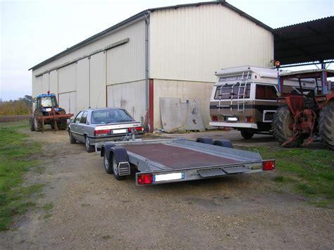 remorque porte voiture 2 essieux troc echange remorque plateau porte voiture 2 essieux sur