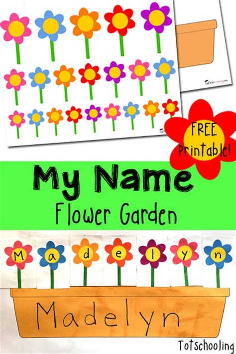 free flower garden name activity free homeschool deals