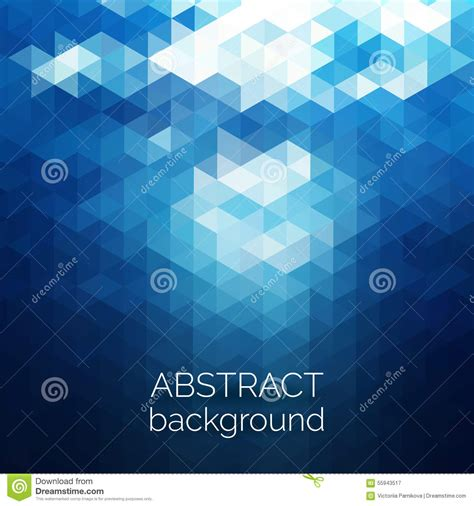 vector background pattern water abstract triangles pattern background blue water