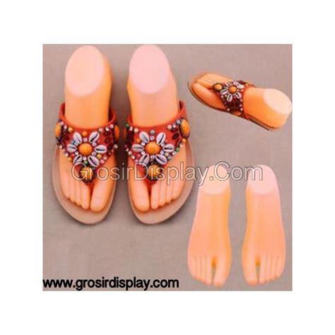 Manekin Patung manekin kaki jari plastik display sepatu sandal grosir