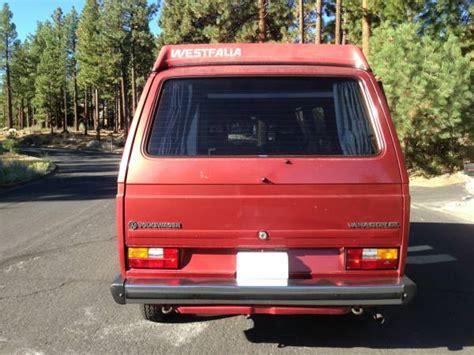 volkswagen vanagon 1987 1987 vw vanagon westfalia cer 13 900 in reno nv