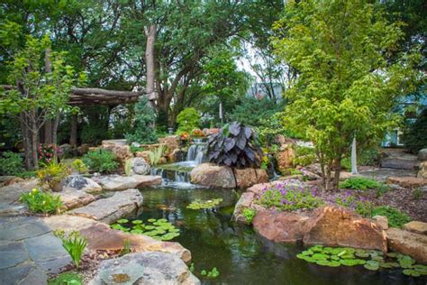 suburban backyard landscaping ideas aquascape your landscape amazing suburban backyard transformed with water features
