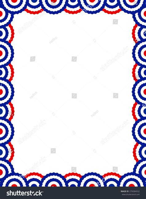 design frame usa blue red usa patriotic buntings page stock illustration