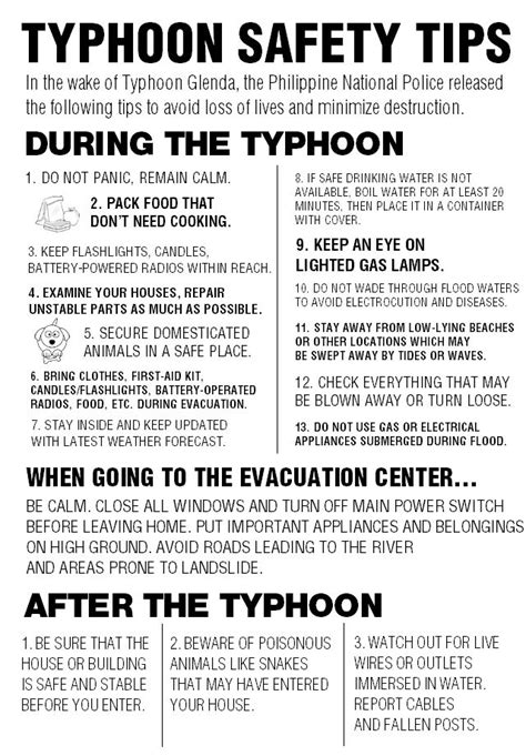 News And Tips by Infographic Typhoon Safety Tips News Gma News
