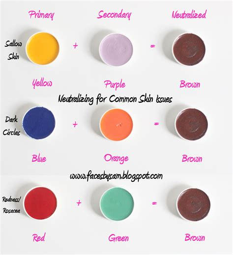 what color corrects circles faces by sam makeup tip 7 neutralizing