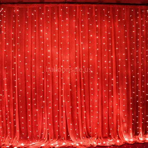 Cheap 300 Led Red Fairy Curtain String Lights For Party Curtain Of Lights