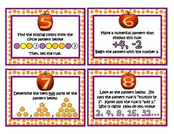 determining pattern rule 1000 images about holiday math halloween pumpkins on