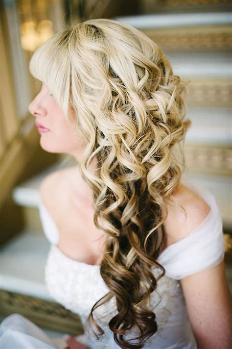 wedding hairstyles side curls 17 best images about hair on pinterest