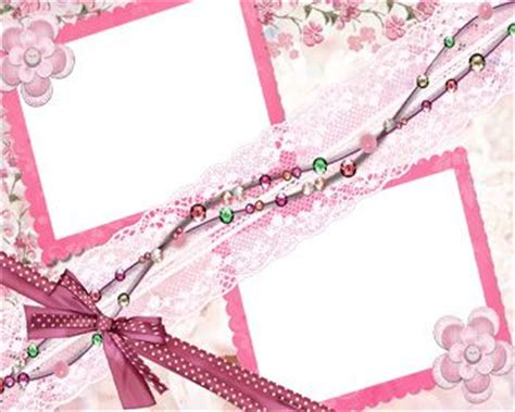Wedding Album Borders by Pink Floral Borders Pink Border And Ribbon Frame Theme