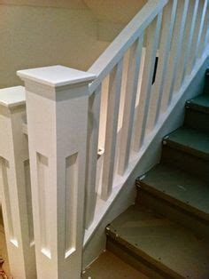 craftsman style wide square spindles google search
