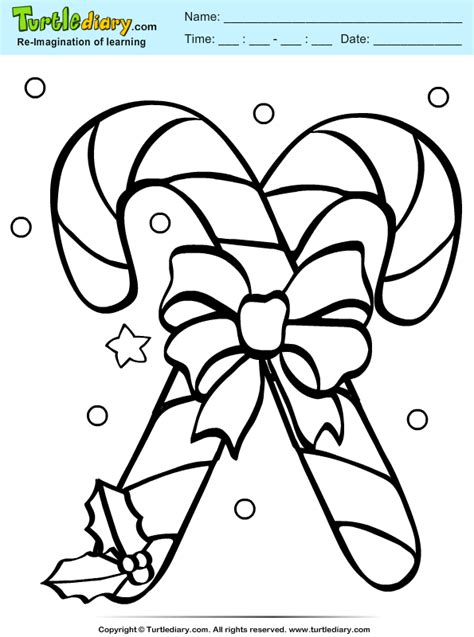 christmas candy coloring pages pictures to pin on