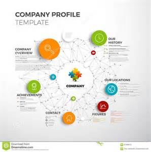 company overview template vector company infographic overview design template stock