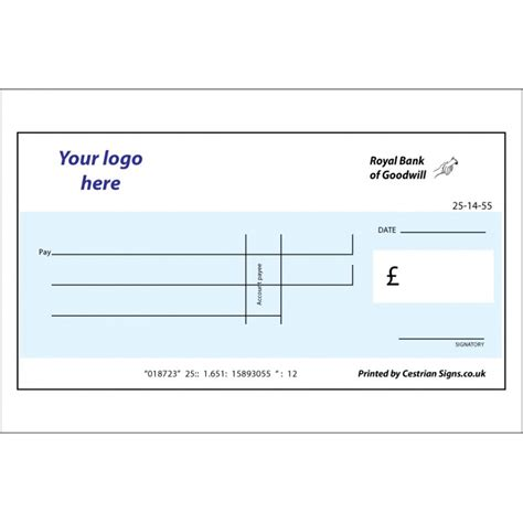 large blank check template big cheque for charity reusable big cheque large cheque