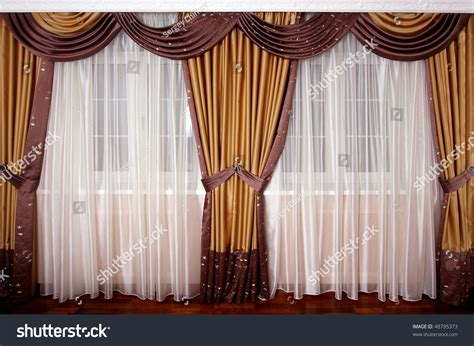 beautiful curtain beautiful curtain window stock photo 48795373 shutterstock