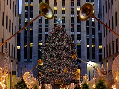 wallpaper rockefeller center tree 2 17 new york rockefeller center tree micka 235 l t flickr