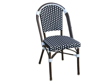 Navy Bistro Chairs All Weather Wicker Bistro Chair Navy White