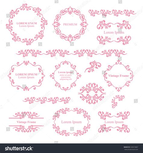 vintage floral elements for design vector stock vector floral design elements set ornamental vintage stock vector