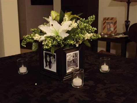 picture frame centerpiece ideas frame and flower centerpiece wedding ideas