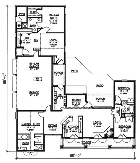 southern floor plans farmside southern home plan 072d 0777 house plans and more