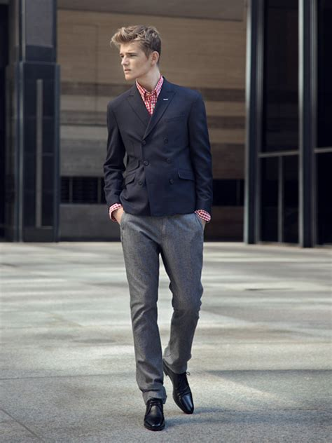 what footwear goes with smart grey trousers a shirt
