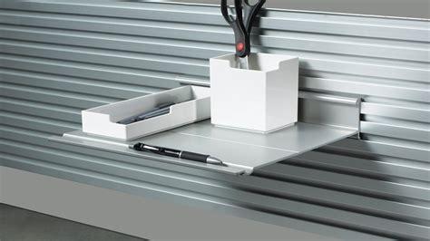 slat wall shelves slatwall slatrail desk shelves steelcase