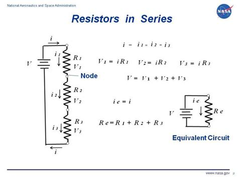 resistor series circuit resistors in series