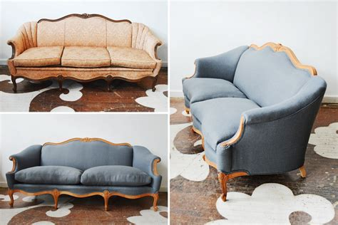 vintage couch reupholstered our west hollywood client asked us to find just the right