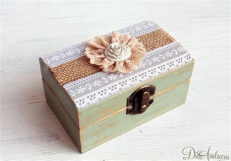 Wedding Box Decoupage by Jewelry Box Ring Bearer Box Wedding Ring Box Personalized