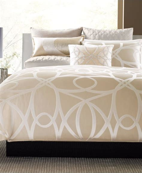 hotel collection bedding hotel collection oriel king duvet cover beige chagne