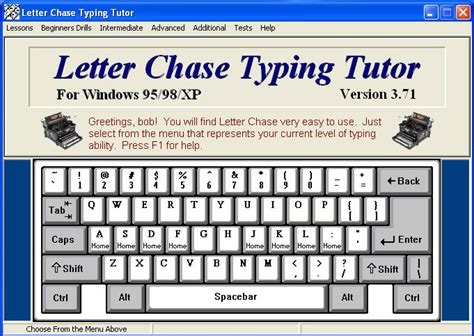 computer keyboard tutorial software letter chase typing tutor download