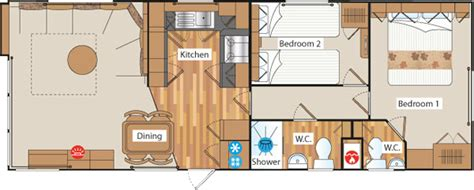 static caravan floor plan 4 star static holiday home specification and virtual tour