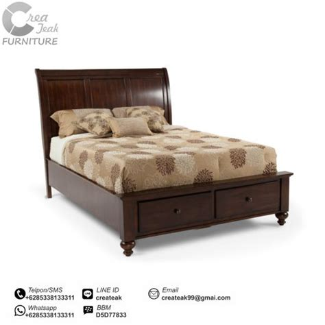 Ranjang Kasur Dari Kayu dipan minimalis jati kamila createak furniture createak furniture