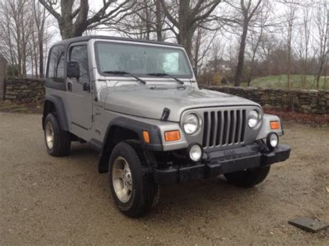 2000 Jeep Wrangler Automatic Sell Used 2000 Jeep Wrangler Sport Sport Utility 2 Door 4
