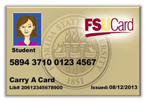 florida state id card template your fsucard office of business services
