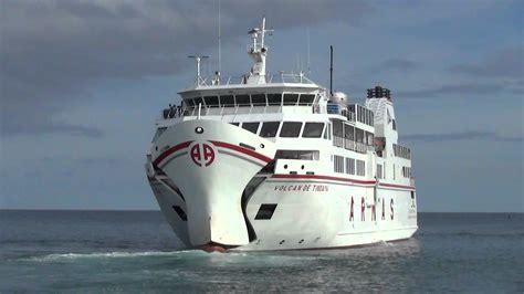 ferry boat navieras armas ferry boat is leaving for playa blanca