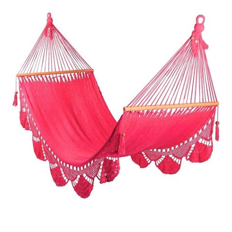 Pink Hammock Pink Hammock With Crochet Large Size