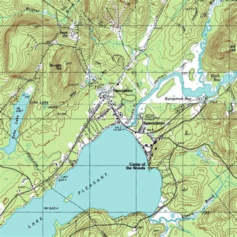 topo map ny route 30 the adirondack trail speculator lake pleasant topographic map