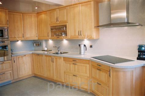 photo cuisine en bois meubles de cuisine enti 232 rement en bois naturel