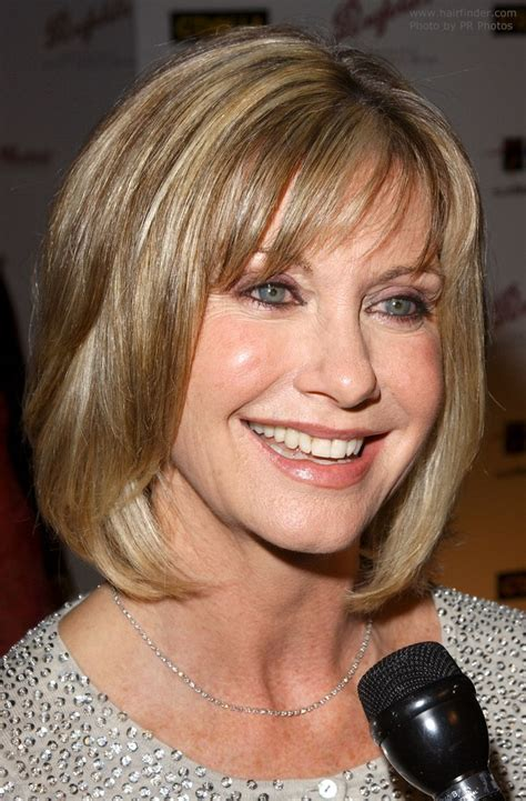 olivia newton johns physical haircut olivia newton john s bob modern mature hairstyle