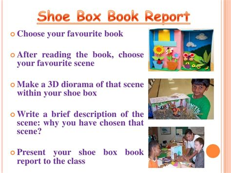 shoe box book report ideas book report diorama
