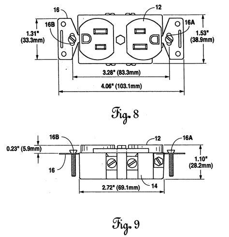 patent us20060057873 electrical receptacle for outward