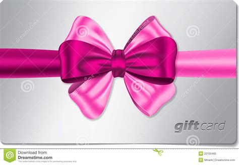 Free Pink Gift Cards - gift card with pink bow royalty free stock photo image 22155465