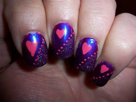 glittery purple nail art 55 most stylish purple nail art designs