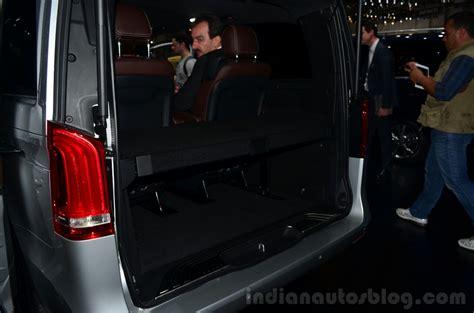 mercedes v class boot geneva live indian autos
