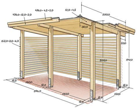 bauanleitung unterstand holz fahrradunterstand selber bauen