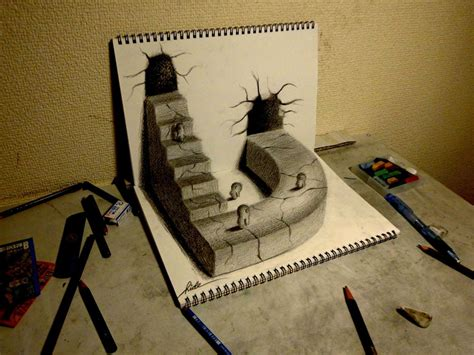 3d Drawing 25 super fun 3d drawings on paper entertainmentmesh